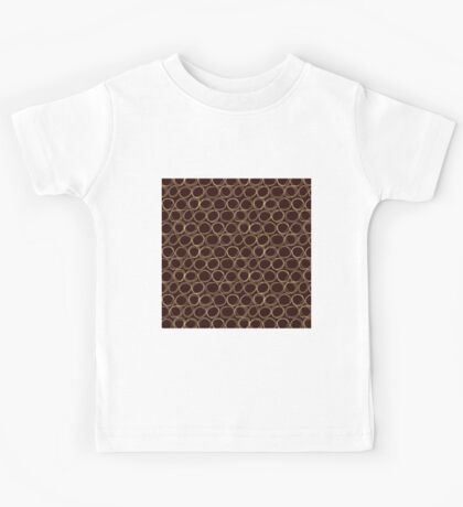 Brown Sketch Circle Kids Tee
