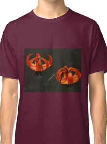 Orange lilies by the river Classic T-Shirt