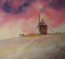 The Mill of Moidrey - The end of a busy day by Beatrice Cloake Pasquier