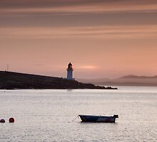 Islay: Port Charlotte Lighthouse at Dawn by Kasia-D