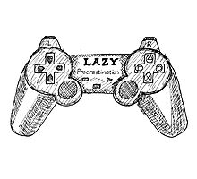 Sketchbook Project: Lazy Gamer Photographic Print