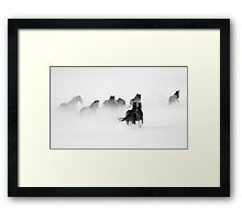 After the Blizzard B&W Framed Print