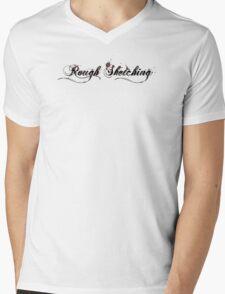 Rough Sketching Logo Mens V-Neck T-Shirt