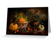 Pumpkin, Squashes and Hedgerow Fruit Greeting Card