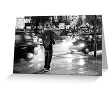 Rainy Night in Westminster Greeting Card