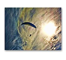 Icarus  .. paragliding  Photographic Print