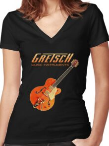 Cool Gretsch  Women's Fitted V-Neck T-Shirt