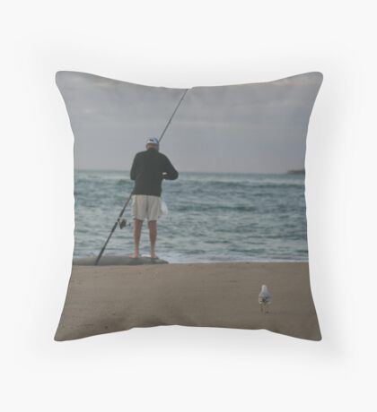 1 Man 1 Seagull, The story Begins. Throw Pillow