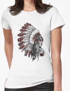 Red Indian - Color  Womens Fitted T-Shirt