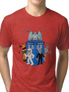doctor who daleks cyberman silence tardis Tri-blend T-Shirt