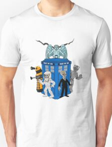 doctor who daleks cyberman silence tardis Unisex T-Shirt