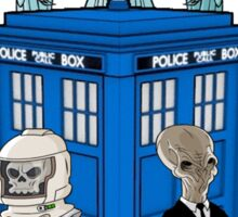 doctor who daleks cyberman silence tardis Sticker
