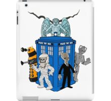doctor who daleks cyberman silence tardis iPad Case/Skin