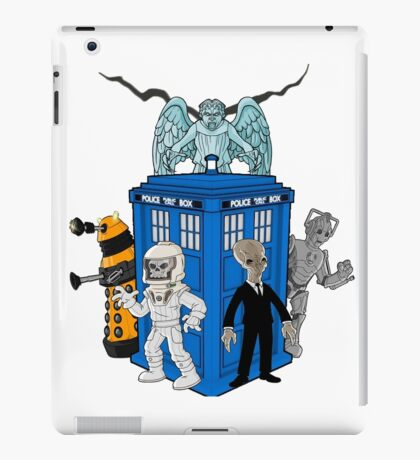 doctor who daleks cyberman silence tardis iPad Case/Skin