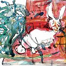 Rabbit by the Dumpster by Jaelah