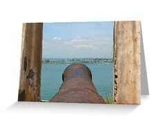 Fire Away-Manning the Morro's Cannon Greeting Card