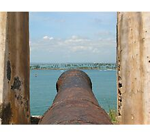 Fire Away-Manning the Morro's Cannon Photographic Print