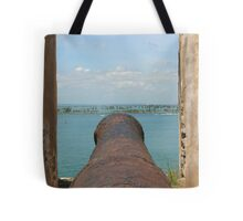 Fire Away-Manning the Morro's Cannon Tote Bag