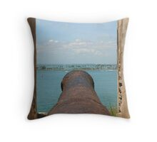 Fire Away-Manning the Morro's Cannon Throw Pillow