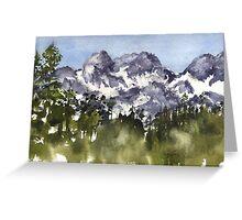 Mt Rainier peaks in Summer Greeting Card