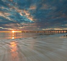 Setting Sun and Some Motion by Dale Allman