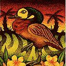 Caribbean Duck on Island by Jacquelyn Braxton