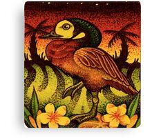 Caribbean Duck on Island Canvas Print
