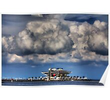 Clouds over St Petersburg Pier Poster