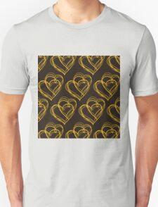 Brown Heart Pattern T-Shirt