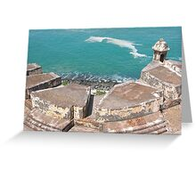View from Above-El Morro Greeting Card