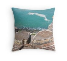 View from Above-El Morro Throw Pillow