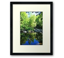 Reflections in a Quiet River Framed Print