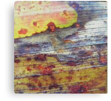 Angel on a leaf - fantasy - natural world - macro photo and oils Canvas Print