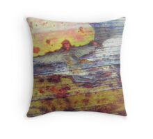 Angel on a leaf - fantasy - natural world - macro photo and oils Throw Pillow