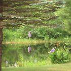 Still Pond-Behind a Cottage by Swan Diaz