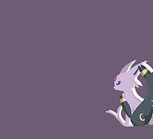 Pokemon- Umbreon and Espeon by KinopikoFan