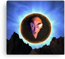 Portrait of the Artist as a Young Alien Canvas Print