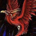 Smoldering Phoenix Soon to Ignite by JacquelynsArt