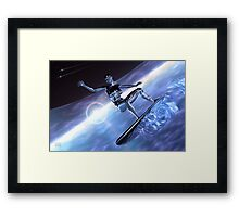 Can't Shalla-Bal Surf Too? Framed Print
