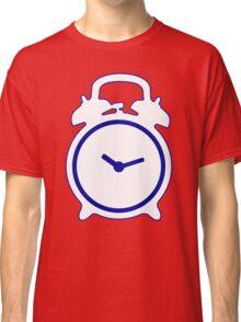 Alarm Clock and Indigo Cat Background Classic T-Shirt