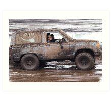 muddin Bronco stile Art Print