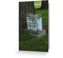 Old Tombstone Greeting Card