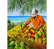 Manuel the Fruit Vendor at the Beach Photographic Print