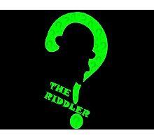 Riddler question mark alternative Photographic Print