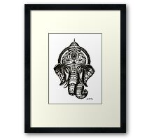 Ganesha - Hindu God of Wisdom Framed Print