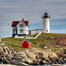 Cape Neddick Lighthouse by Monica M. Scanlan