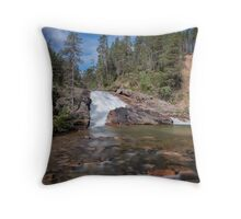 Summer Rush at Lemmenjoki Throw Pillow