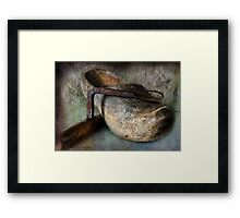 Lost in Worm Holes and Layers Framed Print