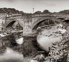 County Bridge B&W by Tom Gomez