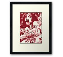 Another nightmare, another page... Framed Print